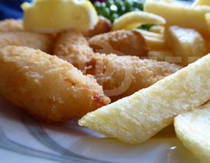 Scampi for lunch at The Black Horse Inn, Torrington