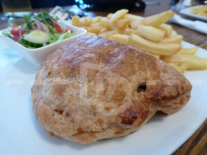 Beef pasty for lunch at The Hartland Quay Hotel, Hartland
