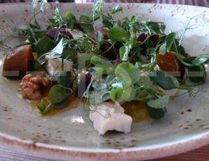Beetroot, walnut & feta salad for starter at The Culm Valley Inn, Culmstock
