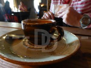 Espresso coffee at The Culm Valley Inn, Culmstock