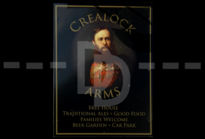 The Crealock Arms sign, Littleham