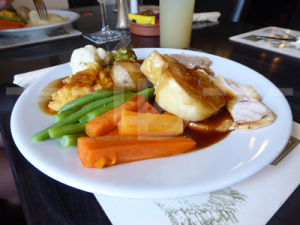 Roast turkey for lunch at The Crealock Arms, Littleham