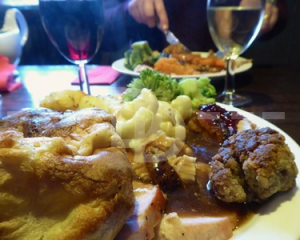 Sunday carvery in Anchor Inn, Exebridge