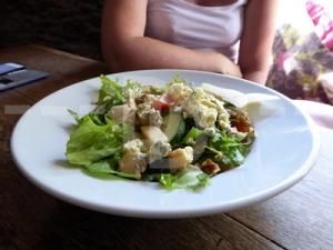 Stilton and Walnut salad for starter at The Grampus Inn, Lee Bay